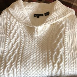 Jeanne Pierre cream sweater size XL